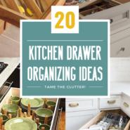 20 kitchen drawer organization ideas