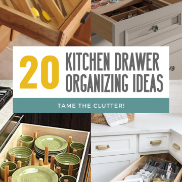 20 ways to organize kitchen drawers