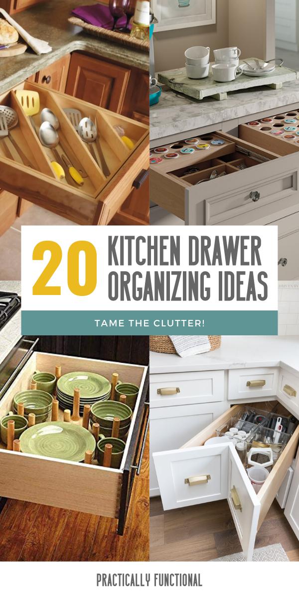 20 ways to organize kitchen drawers