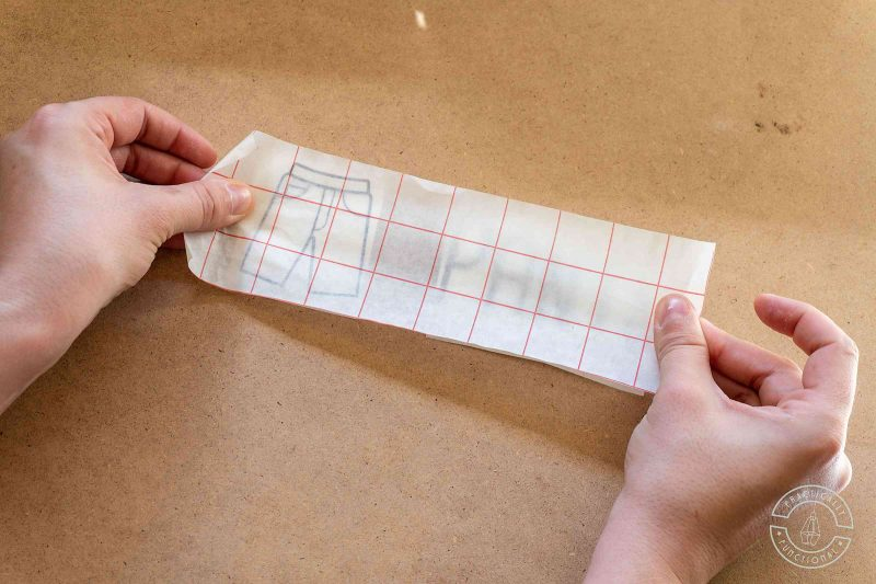 Apply transfer paper over design