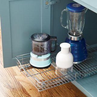 Diy kitchen cabinet into pull out drawer organizer
