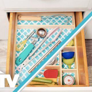 Diy stackable kitchen drawer organizer