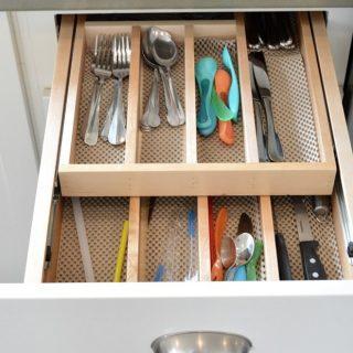Double drawer utensil organizers