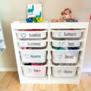 Free printable dresser drawer labels and svg file for ikea trofast bins