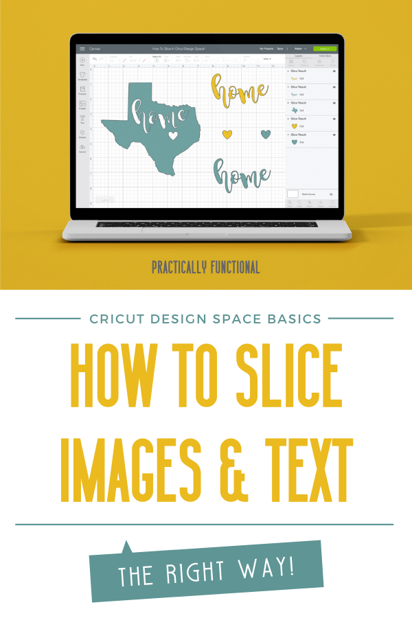 How to slice images and letters in cricut design space