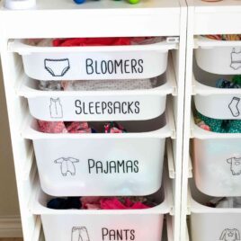 Kids clothing drawer labels free svg and printable for ikea trofast bins