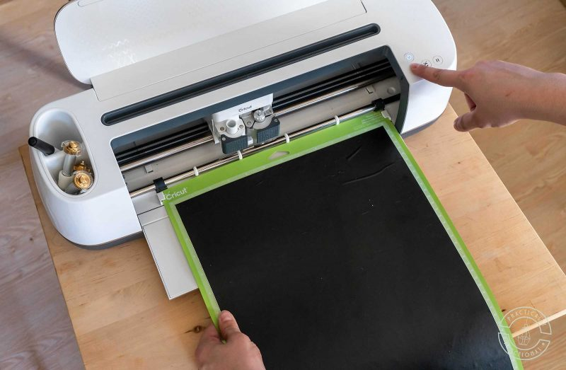 Load cricut cutting mat into cricut maker