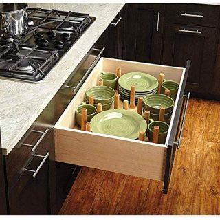 Organize deep kitchen drawers with peg drawer organizers