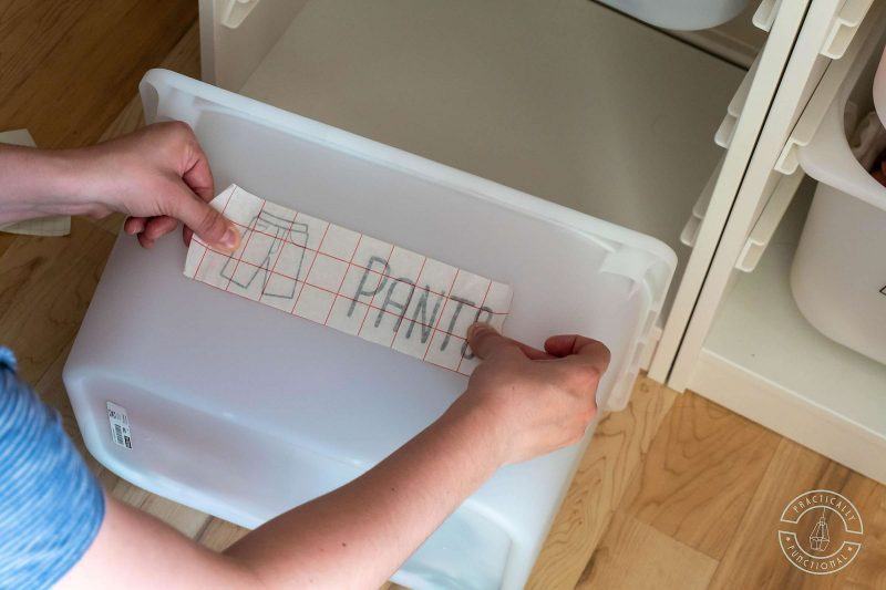 Use transfer paper to transfer design to dresser drawer