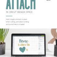 How to attach in cricut design space