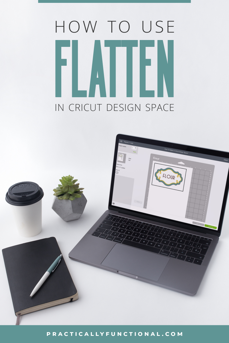 How to flatten images in cricut design space to print only without cutting 2