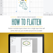 How to flatten images in cricut design space to print without cutting 2
