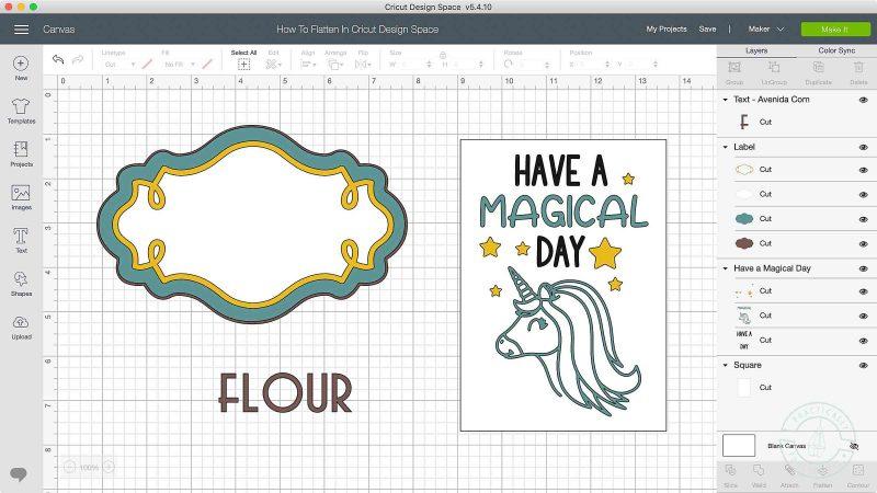 How to flatten in cricut design space
