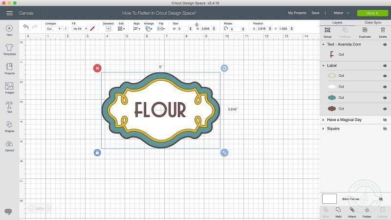 How to flatten in cricut design space click flatten