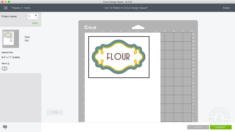 How to flatten in cricut design space make cricut print only
