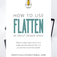How to flatten layers in cricut design space to print only without cutting 1