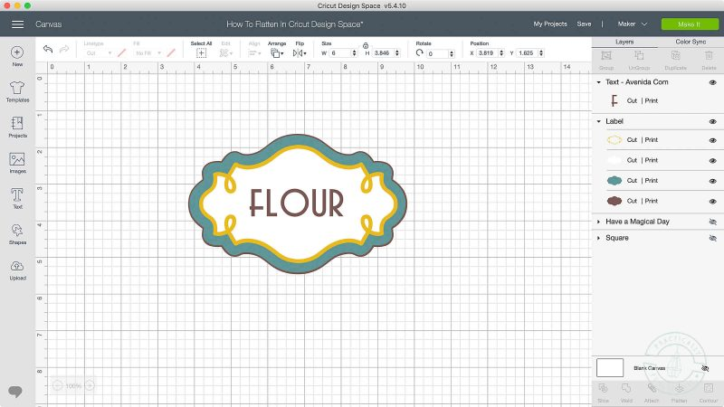 How to unflatten in cricut design space