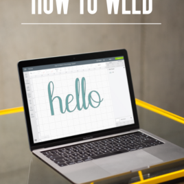 How to weld images and letters in cricut design space