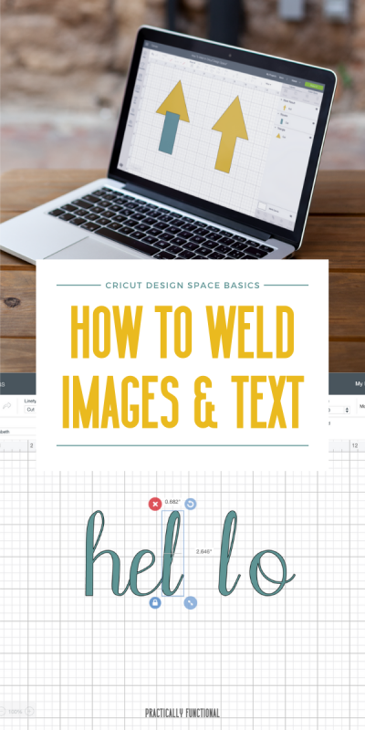 How to weld letters and shapes in cricut design space