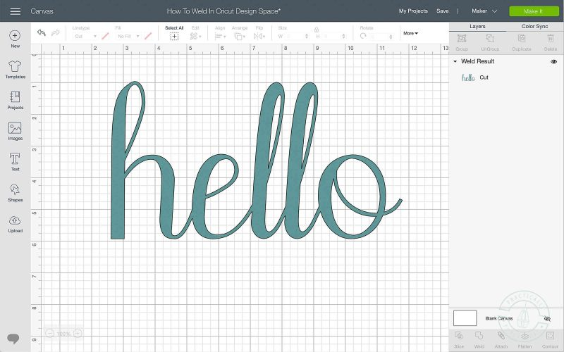 Learn how to connect letters in cricut design space