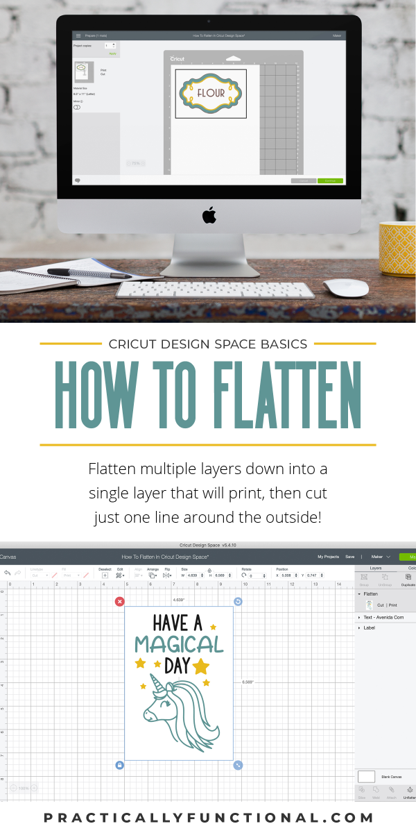 Learn how to flatten images in cricut design space to print without cutting