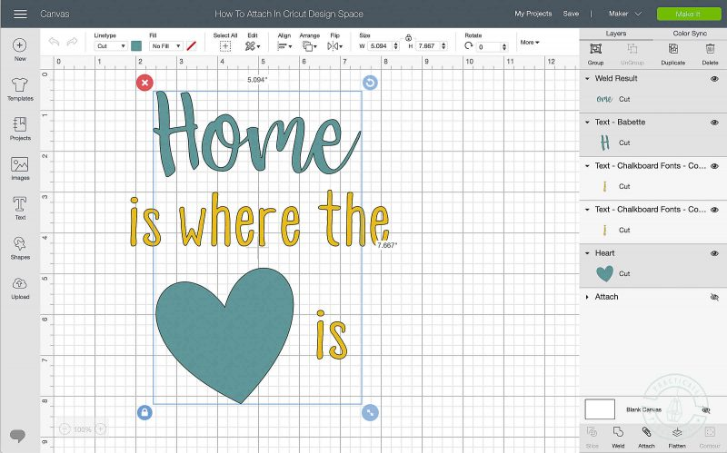 Learn how to lock the image position on the mat in cricut design space select all layers