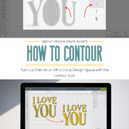 How to show or hide cut lines with the contour tool in cricut design space