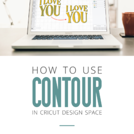 How to use the contour tool in cricut design space to show or hide cut lines