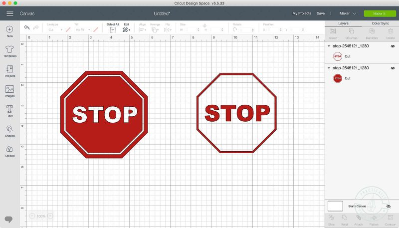 Use the contour tool in cricut design space to turn on or off cut lines create a negative image