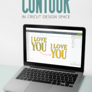 Using the contour tool in cricut design space to show or hide cut lines