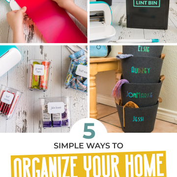 5 simple home organization ideas you can do with a cricut joy