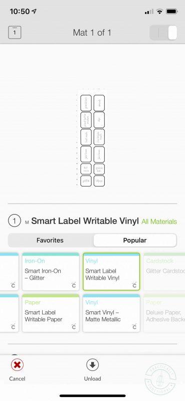 Cricut joy pantry labels choose smart label writable vinyl