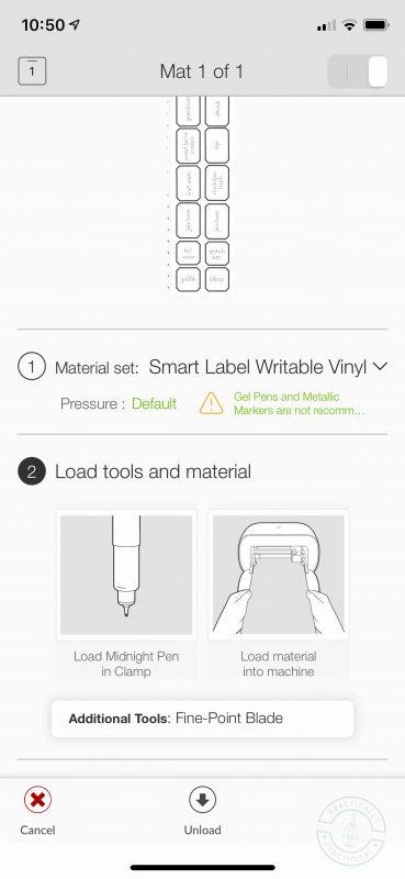 Cricut joy pantry labels load cricut pen to write out labels