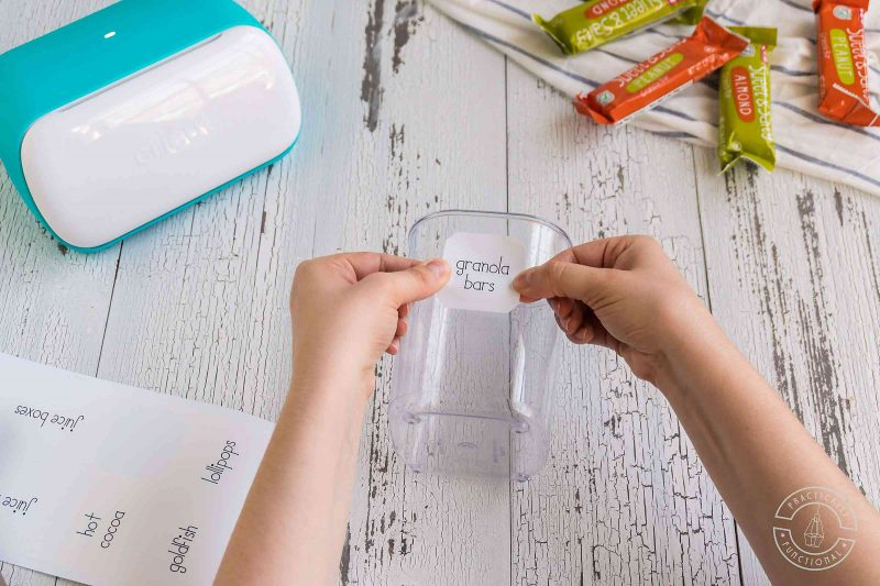 Free cricut joy pantry labels place labels on bins